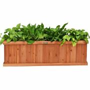 Modern And Durable 3' X 3 Wooden Decorative Planter Box For Garden Yard And Window