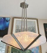 French Art Deco Chandelier By Degue C. 1930s Dave Thomas Wendyand039s Estate