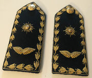 Vintage Military Bullion Epaulets - Shoulder Boards Made By Russell Uniform Co.