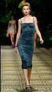 Dolce And Gabbana Longuette In Lamandegrave Satin Ruched Dress 48 Nwt Sold Out2995.00.