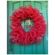 Summer Wreath, Round Bubble Deco Mesh, Holiday Party, Everyday, Farmhouse-style