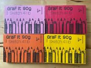 Lot Of 4 - Graf It Sketch Pad 4 X 6 Clairefontaine 160page 90g 80sheet 41lb Wht