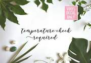 Temperature Check Required Decal - Temp Check Vinyl Decals For Shops Spa Hair