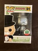 Funko Pop Board Games Mr. Monopoly 01 Vinyl Figure [silver] Paypal Only