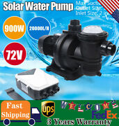 New 1.2hp Solar Swimming 900w Spa Pool Pump Motor Strainer 88 Gpm Above Ground