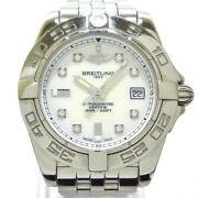 Auth Breitling Galactic A71356 Silver 1299198 Womens Wrist Watch