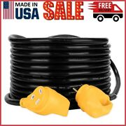 Camco Powergrip Heavy-duty Outdoor 30-amp Extension Cord For Rv And Auto