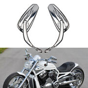 Chrome Motorcycle Side Mirrors For Harley Davidson Ultra Limited Sportster Iron