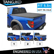 Soft Tri-fold Tonneau Cover For 04-14 Ford F150 06-14 Lincoln Mark Lt Bed 5.5ft