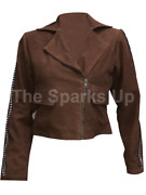 Gal Gadot Justice League Wonder Woman Motorcycle Style Suede Leather Jacket