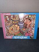 Springbok's 500 Piece Jigsaw Puzzle Cookie Tins Made In Usa