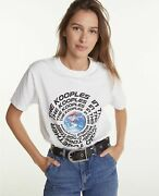 The Kooples Faded Cotton T-shirt With Planet Screen Print