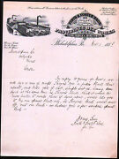 1884 Firth And Foster Bros - Providence Dye Works - Philadelphia Pa Letter Head