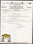 1936 Baer Brothers Paint - Paints Enamels Varnishes - Rare Letter Head History