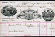 1884 Glidden W Joy And Co Varnishes And Japans Boston Letter Head Rare History