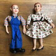 Hazelleand039s Marionette Vintage 2x Puppets 12 Needs Strings
