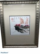 John H Chen Chinese Original Watercolor On Rice Paper Stamped Jhc