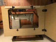 Vintage Singer Sewing Machine 328 Style-o-matic With Cabinet