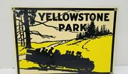 Yellowstone Park Porcelain Metal Sign By Ande Rooney Dated 1996