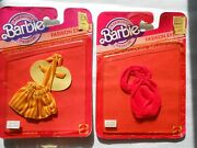 2 Barbie Fashion Extras Clothes Mattel 1983 New Old Stock In Packages