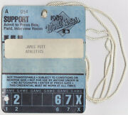 1989 World Series Oakland A's Support Pass All Access Ticket Press Field Game 1