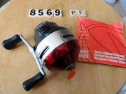 T8569 Zebco Rhino Rsc3 Ball Bearing Spincast Fishing Reel Unused With Booklet