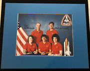 Sts-34 Mission Crew Hand Signed Autographed Photo Rare Astronaut Office Version