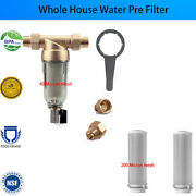 Clear Spin Down Whole House Sediment Water Filter System 3/4 Fnpt, Free 2 Mesh