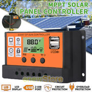 100a Mppt+pwm Solar Charge Controller 12/24v Auto Solar Regulator Lcd Display Us