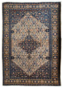 Handmade Antique Oriental Rug 3.3and039 X 5.2and039 100cm X 158cm 1920s - 1b672
