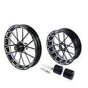 30 Front 18and039and039 Rear Wheel Rim And Hub Fit For Harley Touring 2008-2021 Non Abs