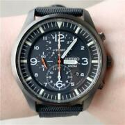 Seiko Chronograph Discontinued Black Rare Mens Watch Authentic Working