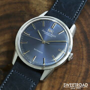 Schaffhausen Ref.810a Vintage Cal.854 Blue Automatic Mens Watch Auth Works
