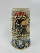 Coors Beer Stein Hand Crafted Adolph Coors Brewery 1989 Limited Edition Rare