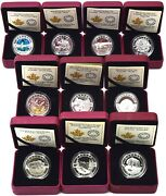 Coin Fine Silver Proof Canadian 2014 10 X Coin Collection Set Boxed Coa