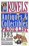 Kovels' Antiques And Collectibles Price List 1995 Paperback Ralph M. Kovel
