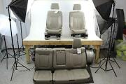 2009 10 Ford F150 Leather Tan Electric Front Rear Heated Cooled Seat Set Oem