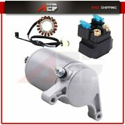 Starter And Relay Solenoid Compatible For 2008 Yamaha Raptor 350