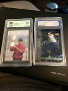 2001 Upper Deck Tiger Tales Tiger Woods Pgs 9 And 2001 Sports Card Investor Gold