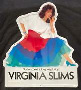 1983 Virginia Slims Youand039ve Come A Long Way Baby Tin Embossed Store Sign Nice