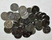 1992 - 2002 Mexico/mexican 5 Centavos 50 Coins Lot Stainless Steel