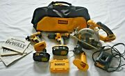 Dewalt 18-volt Cordless 4 Tool Combo Kit Drill, Saw, New Impact And Worklight
