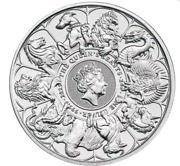 In Stock 2021 2 Oz British Silver Queenandrsquos Beast Collection Completer Coin Bu