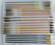 Vintage Wood Archery Arrows W/ Herter's/bear Broadheads And Target Tips Lot Of 20