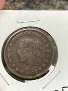 1837 Hard Times Token Liberty Head/not One Cent 2