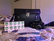 Near Mint Leica M4-p Black Doomo Light Meter Cannon 50mm 1.4 With Case And Film.