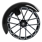 21and039and039x3.5and039and039 Front Fender Wheel Rim Hub Dual Disc Fit For Harley Touring Fl 08-21