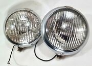 Vintage 1960's 70's Pair Of Unity F1 Fog Driving Auxiliary Lights In Nice Shape