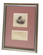 Susan B Anthony / Susan B Anthony Signed Quotation Live The Truth Sweet