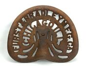 Vintage Furst And Bradey Mfg. Co Chicago Ill Cast Iron Metal Tractor Seat